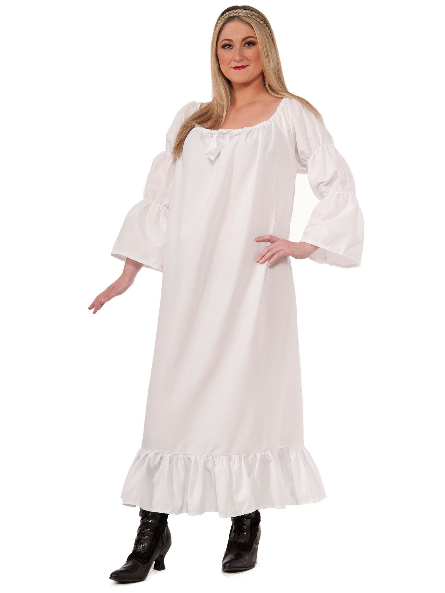 Plus Size Medieval Chemise Adult Plus Size Costume - Womens ...