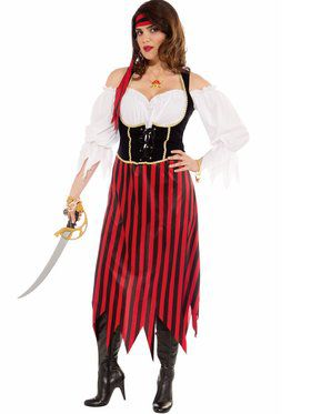 plus size pirate maiden womens costume