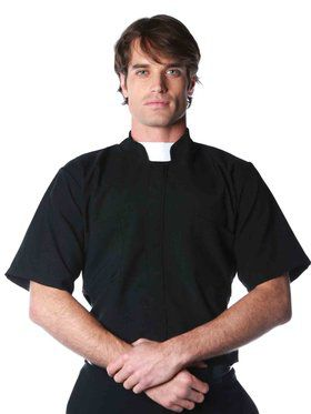 Plus Size Priest Shirt Women's Plus Size Costume