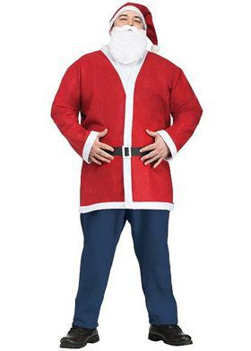 Plus Size Pub Crawl Santa Jacket Kit Men's Costume