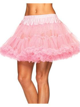 Plus Size Women's Layered Tulle Petticoat - Pink