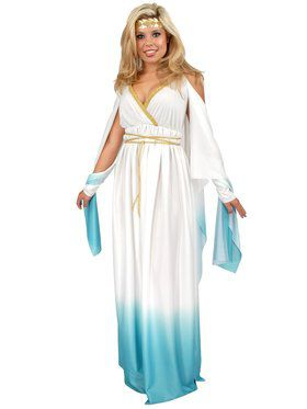 Plus White & Blue Greek Goddess