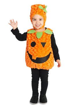 Plus Size Plush Belly Pumpkin Costume For Children