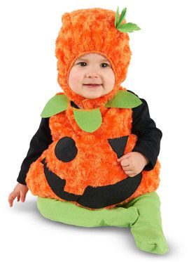 Plush Belly Pumpkin Costume For Infants