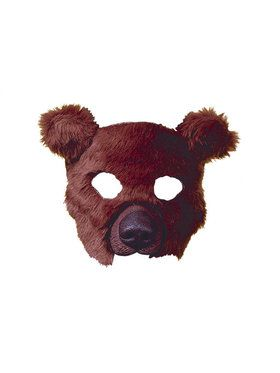 Plush Brown Bear Mask