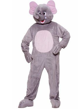 Plush Elephant Mens Costume