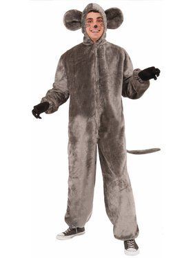 Plush Gray Mouse Adult One Size Costume