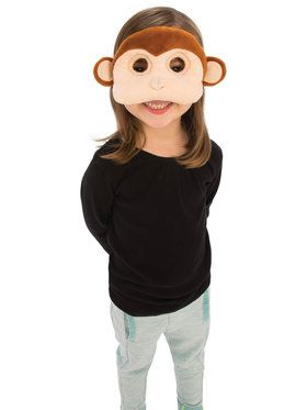 Plush Monkey Eye Mask for Children