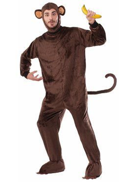 Plush Monkey One Size Mascot Costume
