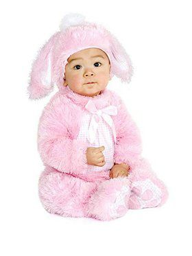 Infant's Plush Pink Bunny Costume