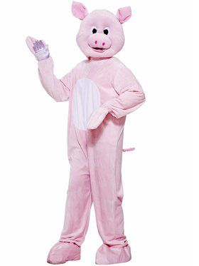 Plush Pinky The Pig Men's Costume
