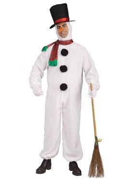 Plus Size Plush Snowman Costume For Adults