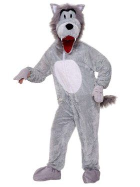 Plush Story Book Wolf Mens Costume