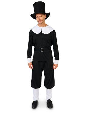 Adult Plymouth Pilgrim Male Costume For Adults  sc 1 st  Wholesale Halloween Costumes & Plus Size Size Plymouth Pilgrim Male Costume For Adults - Mens ...