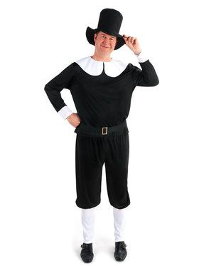 Plus Size Size Plymouth Pilgrim Male Costume For Adults