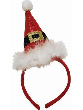 Pointed Santa Hat Headband Accessory