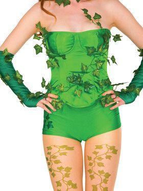 Womens Deluxe Poison Ivy Corset