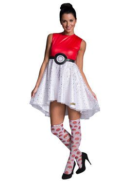 Pokeball Dress Women's Costume
