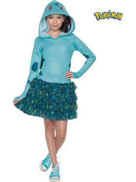 Pokemon Bulbasaur Hooded Girl's Costume