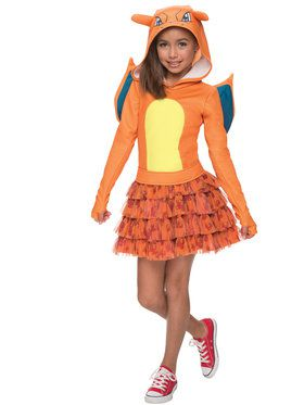 Pokemon Charizard Girl's Costume