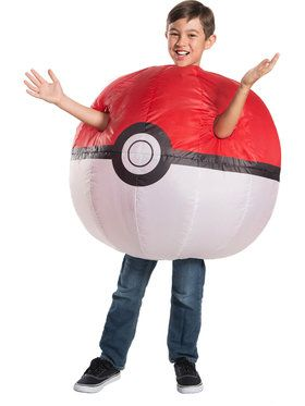 Pokemon: Inflatable Poke Ball Costume for Children