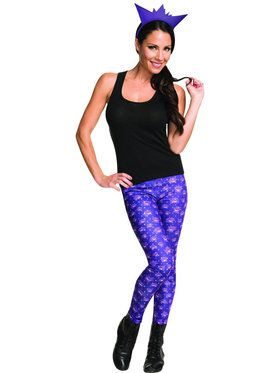 Pokemon Gengar Leggings and Headband Adult Costume Kit