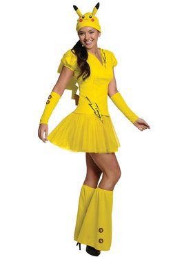 Pokemon Pikachu Costume For Adults