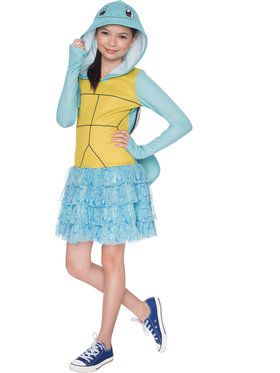 Pokemon Squirtle Hooded Girl's Costume