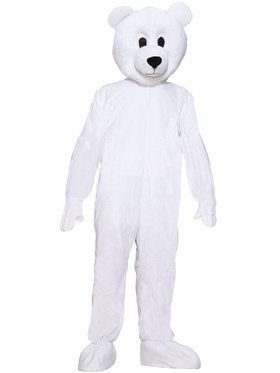 Plus Size Polar Bear Plush Economy Mascot Costume For Adults