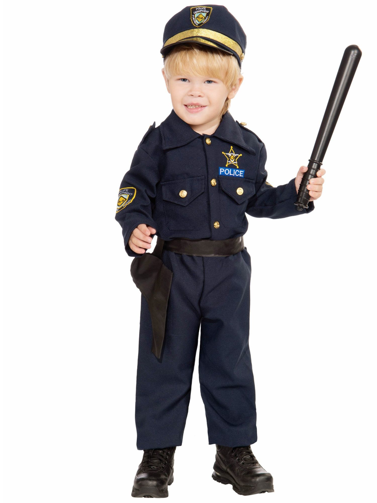 Police Boy Toddler Costume  sc 1 st  Wholesale Halloween Costumes & Toddler Police Costume - Wholesale Cop Costumes for Babies