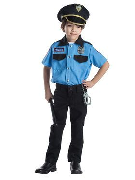 Police Chief Role Play Set Boy's Costume