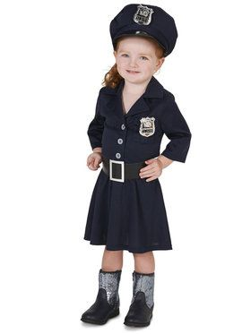 Police Girl Costume For Toddlers