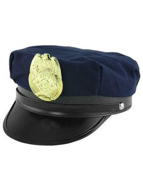 Police Hat with Silver Badge