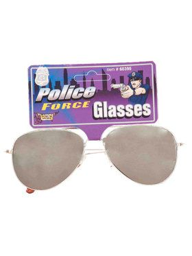 Adult Police Mirrored Glasses