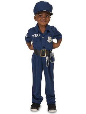 Police Officer Costume For Toddlers