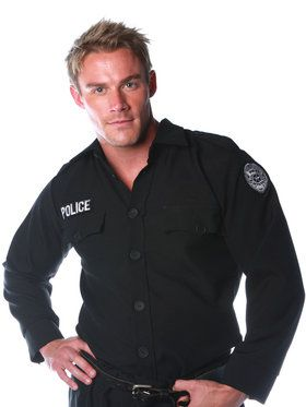 Police Shirt Men's Costume