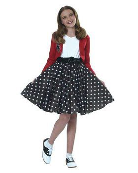 Polka Dot Rocker Kids Costume