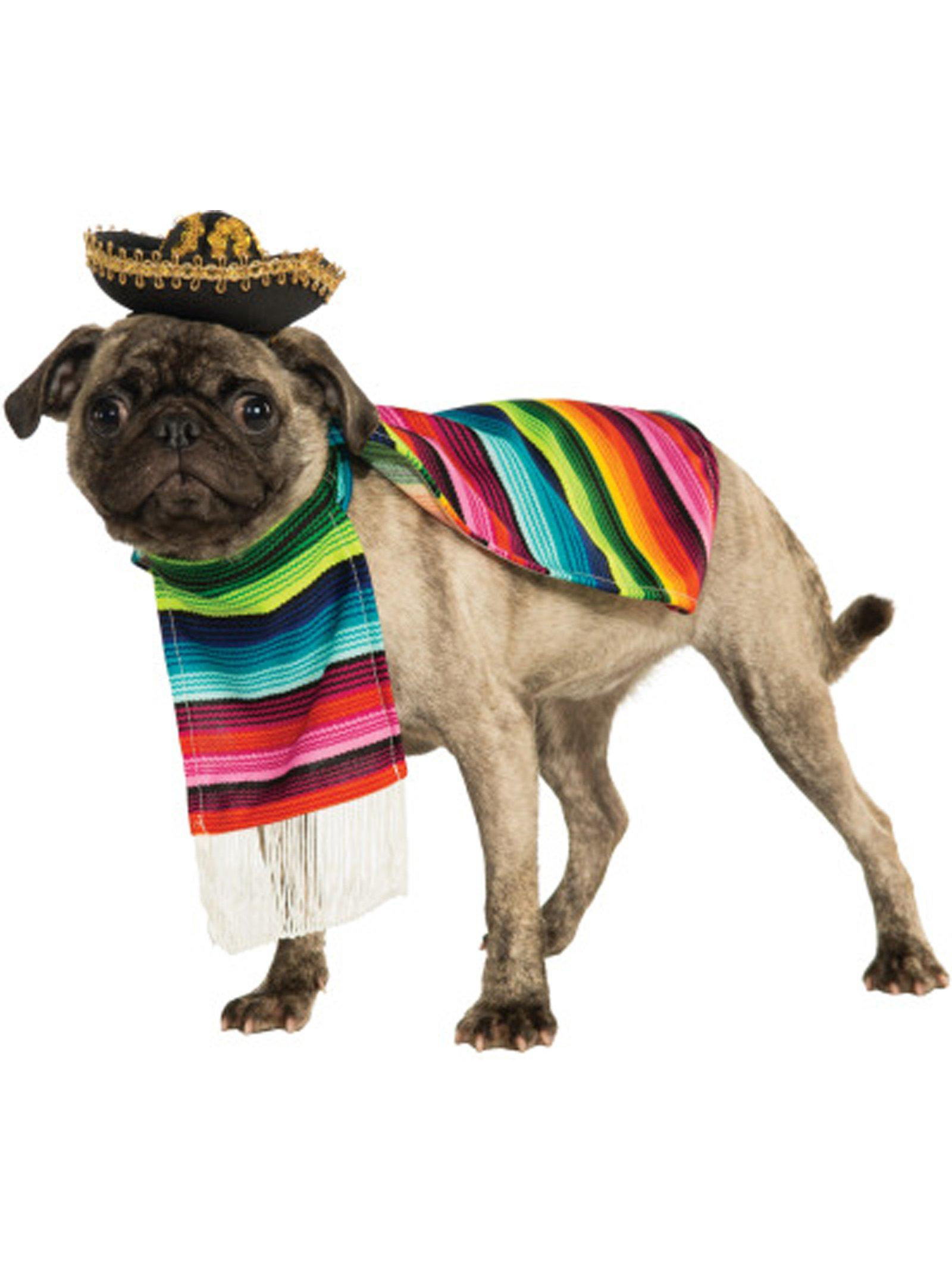 Rubie's Poncho And Sombrero Mexican Dog Costume