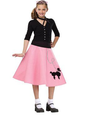 Poodle Skirt Kids Costume