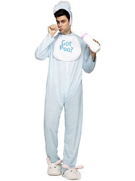Poopie Jammies Adult Costume Men's Costume