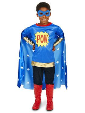 Pop Art Comic Super Hero Child Costume