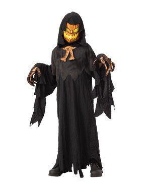 Possessed Pumpkinhead Child Costume for Kids