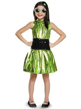 Power Puff Buttercup Deluxe Girls Costume