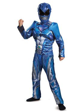 Power Rangers: Blue Ranger Classic Muscle Child Costume