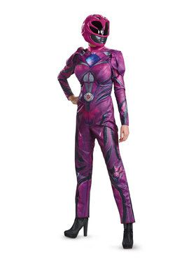 Power Rangers Deluxe Pink Ranger Costume For Adults