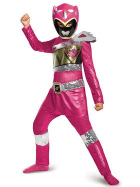 Power Rangers Dino Charge: Deluxe Pink Ranger Sequin Costume For Girls