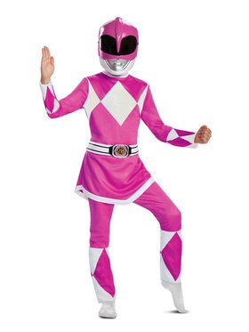Mighty Morphin Power Rangers Deluxe Pink Ranger Costume for Kids