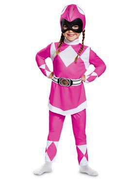 Mighty Morphin Power Rangers Classic Pink Ranger Costume for Toddlers