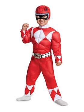 Mighty Morphin Power Rangers Red Ranger Costume for Toddlers