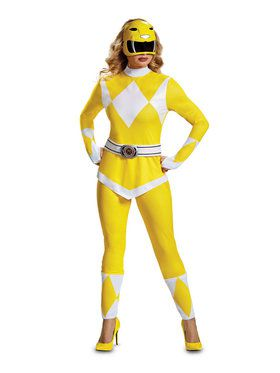Mighty Morphin Power Rangers Adult Yellow Ranger Costume